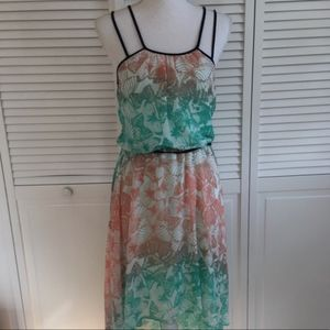 Bisou Bisou   High-low butterfly print dress